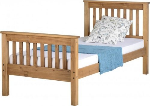 200-201-018 Monaco 3′ Bed High Foot End Antique Pine – IW Furniture beds