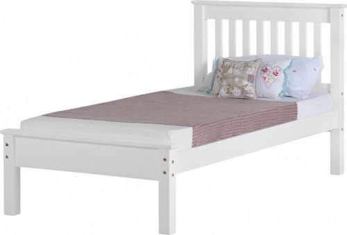 200-201-021 Monaco 3′ Bed Low Foot End White – IW Furniture Beds