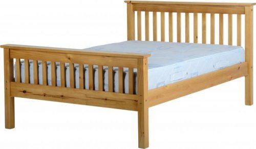 200-203-028 Monaco 4'6 Bed High Foot End Antique Pine - IWFurniture