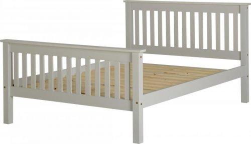 200-203-063Monaco 4'6 Bed High Foot End Grey - IWFurniture