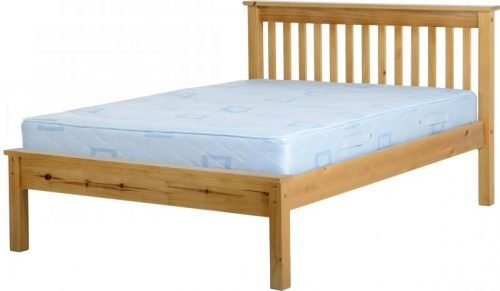 200-203-029 Monaco 4'6 Bed Low Foot End Antique Pine - IWFurniture