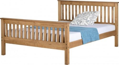 200-204-006 Monaco 5′ Bed High Foot End Distressed Waxed Pine - IWFurniture