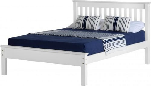 200-204-008 Monaco 5′ Bed Low Foot End White - IWFurniture