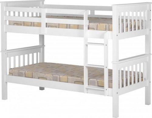 200-205-009Neptune 3′ Bunk Bed White - IWFurniture