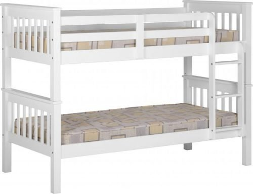 200-205-009 Neptune 3′ Bunk Bed White - IWFurniture