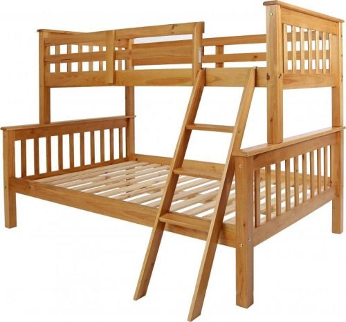 200-205-010 Neptune Triple Sleeper Bunk Bed Antique Pine - IWFurniture