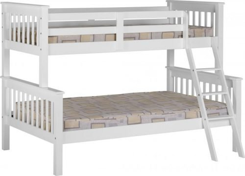 200-205-011 Neptune Triple Sleeper Bunk Bed White - IWFurniture