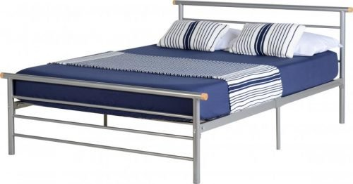 200-203-032 Orion 4'6 Bed Silver - IWFurniture