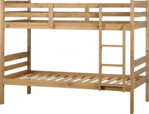 200-205-012 Panama 3′ Bunk Bed Natural Wax - IWFurniture