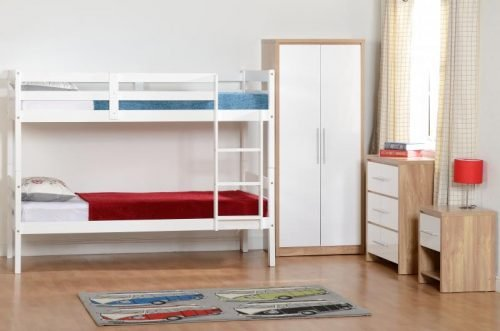 200-205-018 Panama 3′ Bunk Bed White - IWFurniture