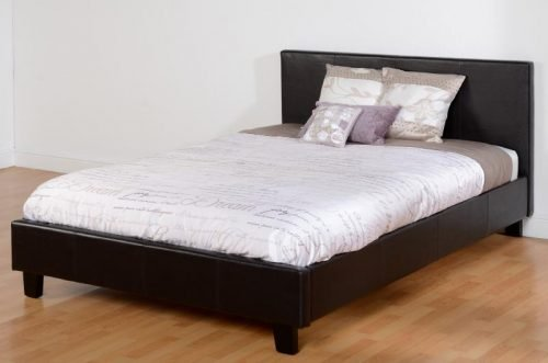 200-203-040 Prado 4'6 Bed Brown Faux Leather - IWFurniture