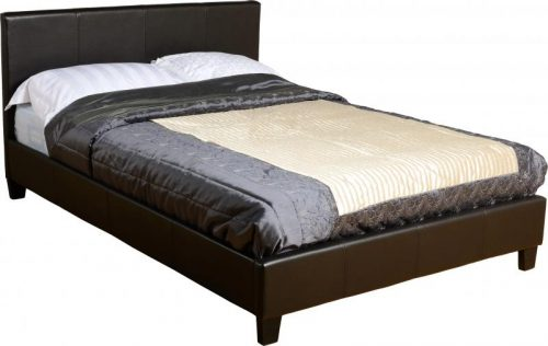 200-202-003 Prado 4′ Bed Black Faux Leather - IWFurniture