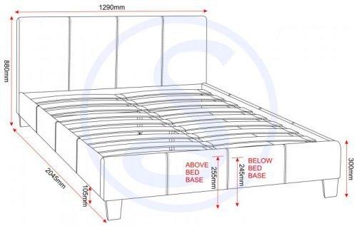 200-202-004 Prado 4′ Bed Brown Faux Leather - IWFurniture