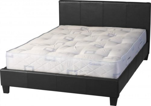 200-204-011 Prado 5′ Bed Black Faux Leather - IWFurniture
