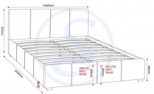 200-203-042 Prado Plus 4'6 Storage Bed Brown Faux Leather - IWFurniture
