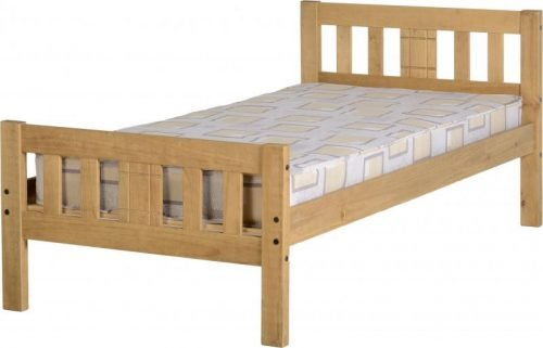 200-203-043 Rio 4′ 6 Bed Distressed Waxed Pine – IW Furniture Beds