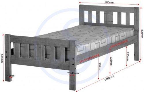 200-201-034Rio 3′ Bed- IWFurniture