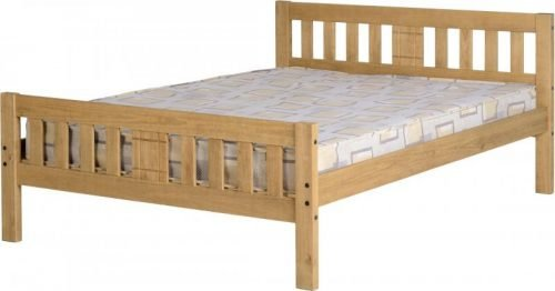 200-203-043 Rio 4'6 Bed Distressed Waxed Pine - IWFurniture