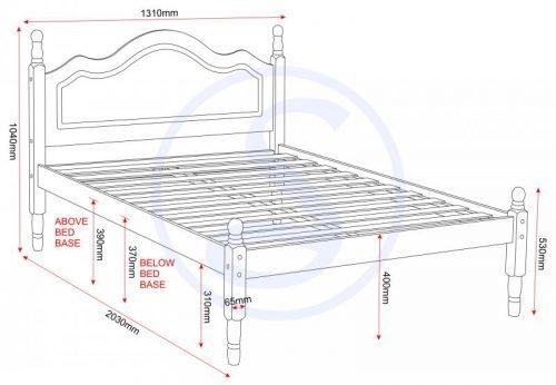 200-203-044 Sol 4′ 6 Bed Antique Pine - IWFurniture