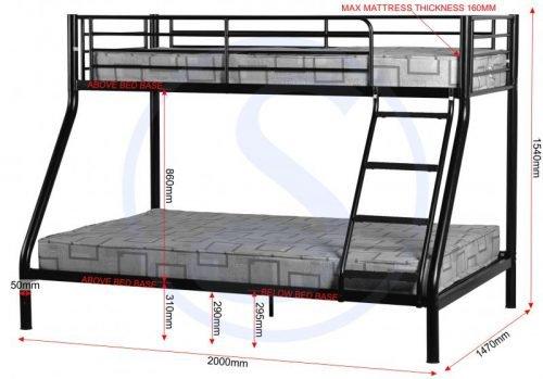 200-205-014Tandi Triple Sleeper Bunk Bed Black - IWFurniture