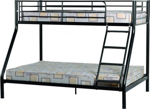 200-205-014 Tandi Triple Sleeper Bunk Bed Black - IWFurniture