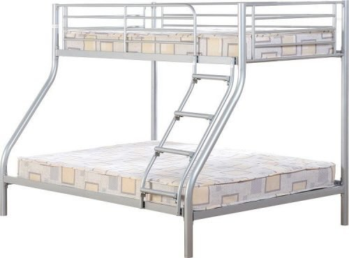 200-205-015 Tandi Triple Sleeper Bunk Bed Silver - IWFurniture