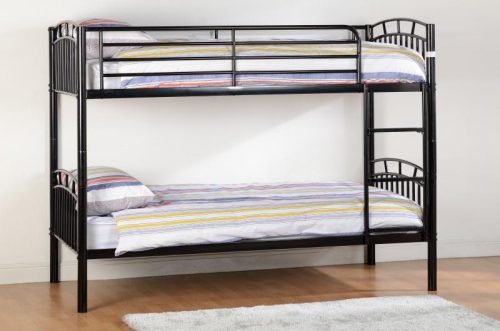 200-205-016 Ventura 3′ Bunk Bed Black - IWFurniture