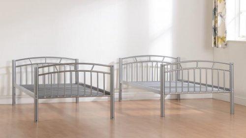 200-205-017Ventura 3′ Bunk Bed Silver - IWFurniture