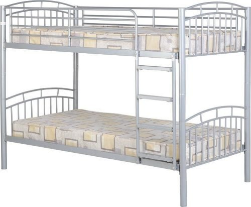 200-205-017 Ventura 3′ Bunk Bed Silver - IWFurniture