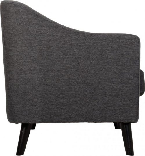300-308-028 Ashley 2 Seater Sofa Dark Grey Fabric - IWFurniture