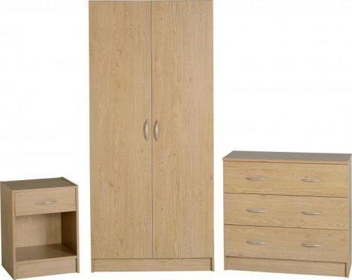 100-108-006 Bellingham Bedroom Set Oak - IWFurniture