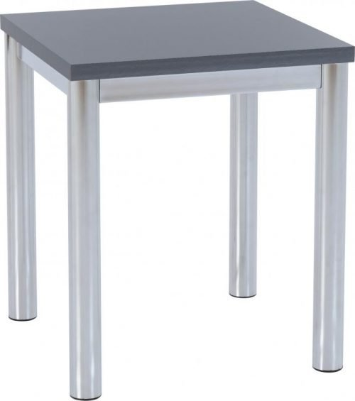 300-302-034 Charisma Lamp Table Grey Gloss – Chrome - IWFurniture