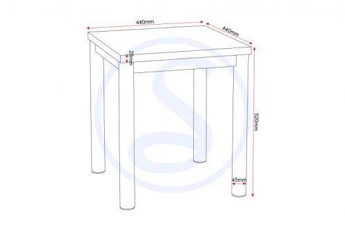 300-302-005 Charisma Lamp Table White Gloss – Chrome - IWFurniture