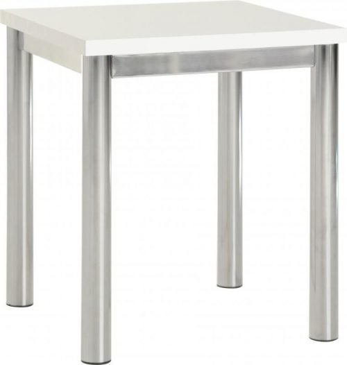 300-302-005 Charisma Lamp Table White Gloss – Chrome - IWFurniture