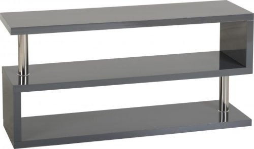 300-305-037 Charisma TV Stand Grey Gloss – Chrome - IWFurniture