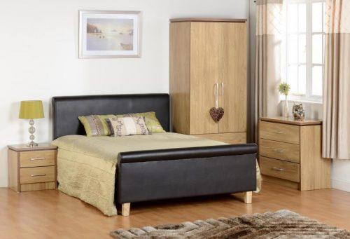 100-103-008 Charles 2 Drawer Bedside Chest Oak - IWFurniture