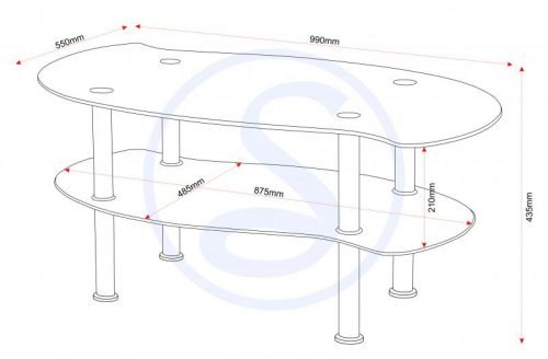 300-301-014Colby Coffee Table Clear Glass-Black Glass-Silver - IWFurniture
