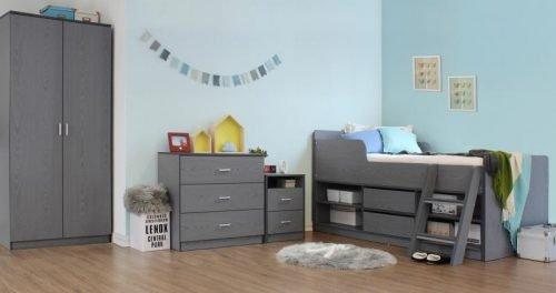 100-108-018Felix Bedroom Set Grey 1 - IWFurniture