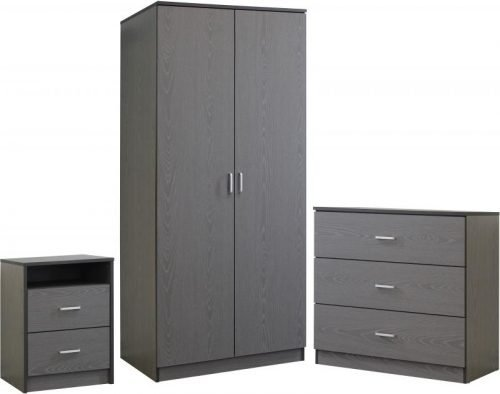 100-108-018 Felix Bedroom Set Grey 1 - IWFurniture