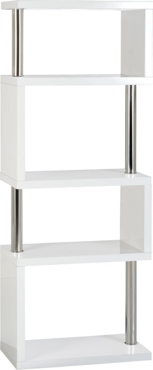 LRG CHARISMA 5 SHELF UNIT WHITE GLOSSCHROME 01 300 306 034 768x1849 1