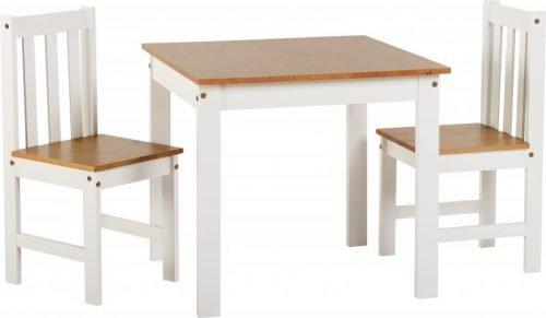 400-401-163 Ludlow 1 plus 2 Dining Set White-Oak Lacquer - IWFurniture