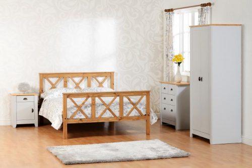100-101-066 Ludlow 2 Door Wardrobe Grey-Oak Lacquer - IWFurniture