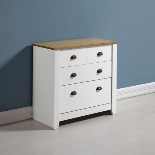100-102-076 Ludlow 2 plus 2 Drawer Chest White-Oak Lacquer - IWFurniture