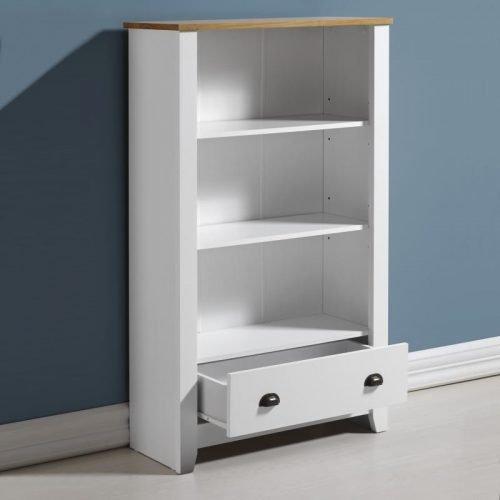 300-306-028 Ludlow Bookcase White-Oak Lacquer - IWFurniture