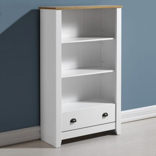 300-306-028 Ludlow Bookcase White-Oak Lacquer - IWFurniture