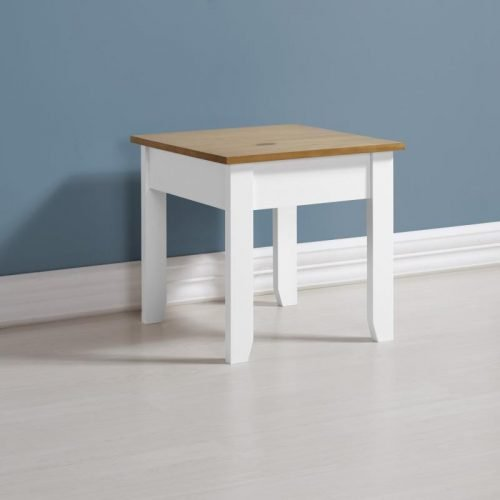 300-302-027 Ludlow Lamp Table White-Oak Lacquer - IWFurniture