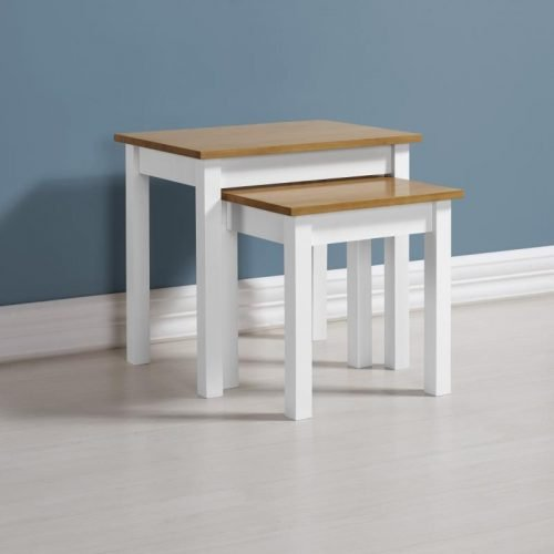 300-303-023 Ludlow Nest of Tables White-Oak Lacquer - IWFurniture