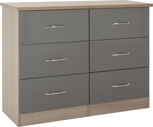 Nevada 6 Drawer Chest 100-102-103 - IWFurniture