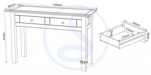 300-304-006 Panama 2 Drawer Console Table - IWFurniture