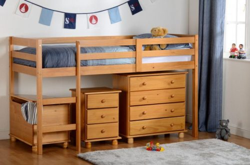 200-206-011 Panama Mid Sleeper Antique Pine - IWFurniture